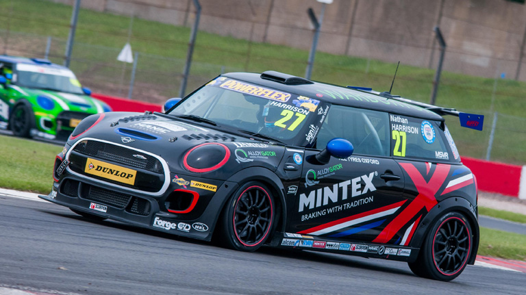 NEW LEADER HARRISON DOES THE DOUBLE AT DONINGTON
